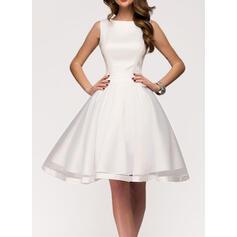 Solid Sleeveless A-line Knee Length Little Black/Party Skater Dresses