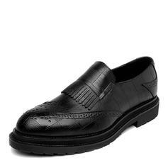 Brogue Casual Microfiber Leather Men's Men's Loafers