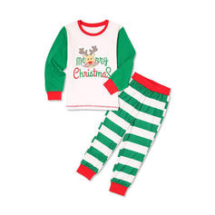 Deer Striped Cartoon Family Matching Christmas Pajamas