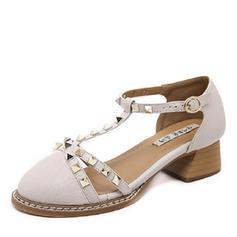 Femmes PU Talon bottier Sandales avec Rivet chaussures