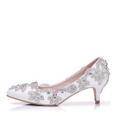 Women's Leatherette Stiletto Heel Closed Toe With Applique
