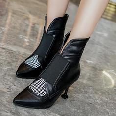Vrouwen Kunstleer Stiletto Heel Pumps Laarzen Enkel Laarzen met Elastiek schoenen