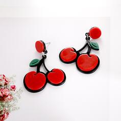 Cherry Alloy Braided Rope Earrings