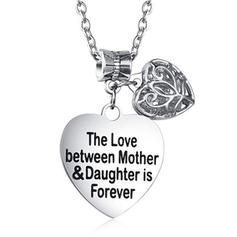 """The Love Between"" Alloy Mother Daughter Necklace"