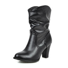 Kvinner PU Stiletto Hæl Støvler med Frynse sko
