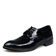 Lace-up Casual Patent Leather Men's Men's Oxfords