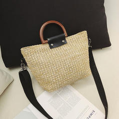 Classical Straw Shoulder Bags