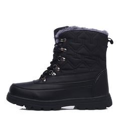 Women's PU Chunky Heel Mid-Calf Boots Snow Boots Martin Boots With Lace-up shoes