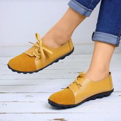 Vrouwen PU Flat Heel Flats Closed Toe met Elastiekje schoenen