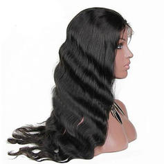 4A Non remy Wavy Human Hair Capless Wigs