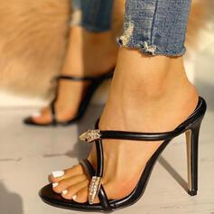 Dla kobiet PU Obcas Stiletto Sandały Otwarty Nosek Buta Kapcie obuwie