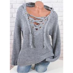 Ribbed Hooded Sweaters