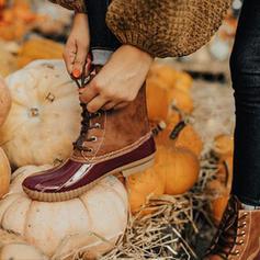 Női PU Lapos sarok Csizma Bokacsizma -Val Animal Print Lace-up cipő