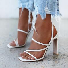 Γυναίκες Μικροΐνες Χοντρό φτέρνα Ανοιχτά σανδάλια toe Με Κουκούλα-έξω παπούτσια