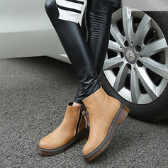 Women's Leatherette Chunky Heel Boots Ankle Boots Snow Boots Martin Boots With Elastic Band shoes