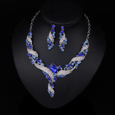 Gorgeous Alloy Gold Plated With Rhinestone Imitation Stones Ladies' Jewelry Sets (Set of 3)