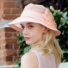 Signore Bella/Moda Seta con Fiore di seta Cappello a bombetta / Cloche