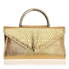 Elegant/Alligator Pattern/Solid Color PU Clutches