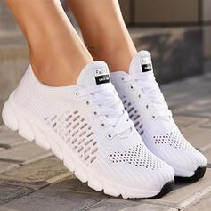 Donna Panno Mesh Senza tacco Ballerine Sneakers con Cava-out Colore solido scarpe