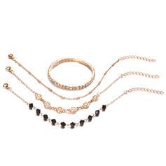 Alliage avec Strass Bracelets Bijoux de plage (Lot de 4)
