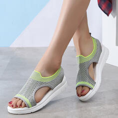 Women's Fabric Wedge Heel Sandals Peep Toe With Hollow-out shoes
