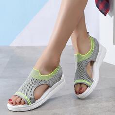 De mujer Tejido Tipo de tacón Sandalias Encaje con Agujereado zapatos