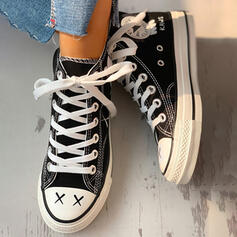 Women's Canvas Casual Outdoor Athletic With Lace-up shoes