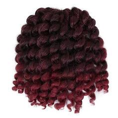 Frisé cheveux synthétiques Tresses de cheveux (Vendu en une seule pièce) 80g
