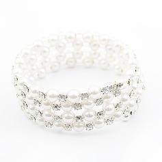 Beautiful Rhinestones Imitation Pearls With Imitation Pearl Ladies' Fashion Bracelets
