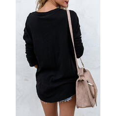 Print Figure Round Neck Long Sleeves