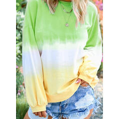 Gradient Round Neck Long Sleeves Sweatshirt