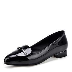 Femmes Similicuir Cuir verni Talon plat Chaussures plates chaussures