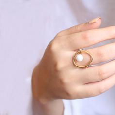 Mooi Messing Parel Vrouwen Ringen