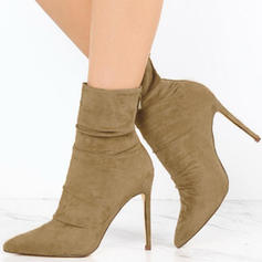 Women's PU Stiletto Heel Pumps Boots With Zipper shoes