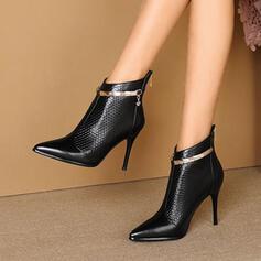 Bayanlar PU Topuklu ayakkabı Pompalar Ayak bileği çizmeler topuk Sivri parmak Ile Diğerleri ayakkabı