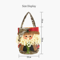 Merry Christmas Snowman Reindeer Santa Gift Bag Non-Woven Fabric Apple Bags