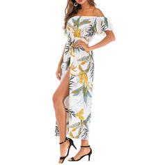 Floral Escote en V Sin Tirantes Sexy De Moda Clásico Atractivo Pareo Trajes de baño