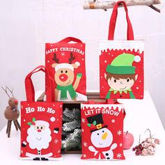 Fröhliche Weihnachten Schneemann Rentier Santa Hängend Geschenktasche Leinen Apple Taschen