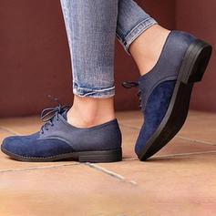 Donna Camoscio Tacco basso Ballerine con Allacciato scarpe