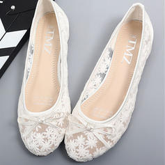 Women's Lace Flat Heel With Bowknot