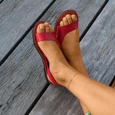Mulheres PU Sem salto Sandálias sapatos