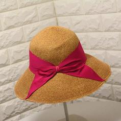 Señoras' Hecha a mano/Caliente Rafia paja con Bowknot Sombrero de paja/Sombreros Playa / Sol