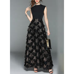 Print Sleeveless A-line Maxi Party/Elegant Dresses
