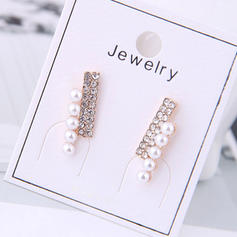 Fashionable Exquisite Alloy Rhinestones Imitation Pearls With Imitation Pearl Rhinestone