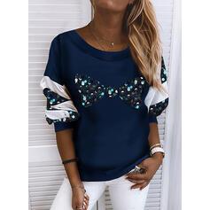Sequins Round Neck Long Sleeves Sweatshirt