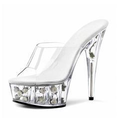 Donna Tessuto Tacco a spillo Sandalo Stiletto Piattaforma Punta aperta Con cinturino scarpe