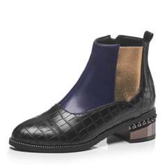 Femmes Similicuir Talon bas Bottes avec Semelle chaussures