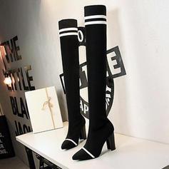 Femmes Mesh Talon bottier Escarpins Bout fermé Bottes Cuissardes avec Autres chaussures