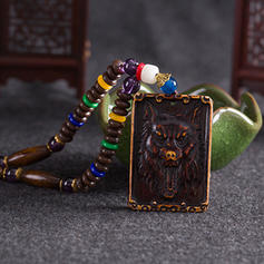 Modisch Exotisch Schickes Holzperlen Unisex Halsketten