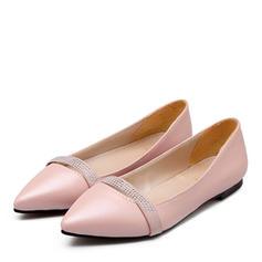 Femmes Similicuir Talon plat Chaussures plates avec Strass chaussures